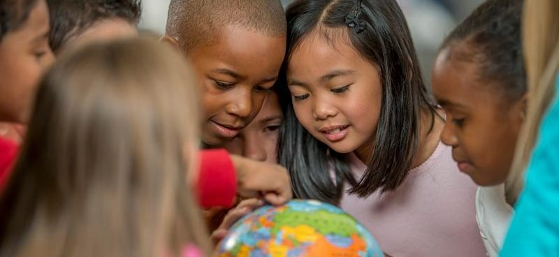 Kids Learning Geography