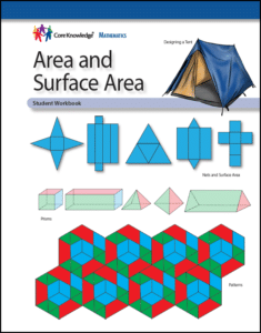 CK Math Area and Surface Area Cover